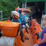 Image of the beavers on one of the Portishead life boats