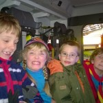 Image of Beavers sat in a fire engine