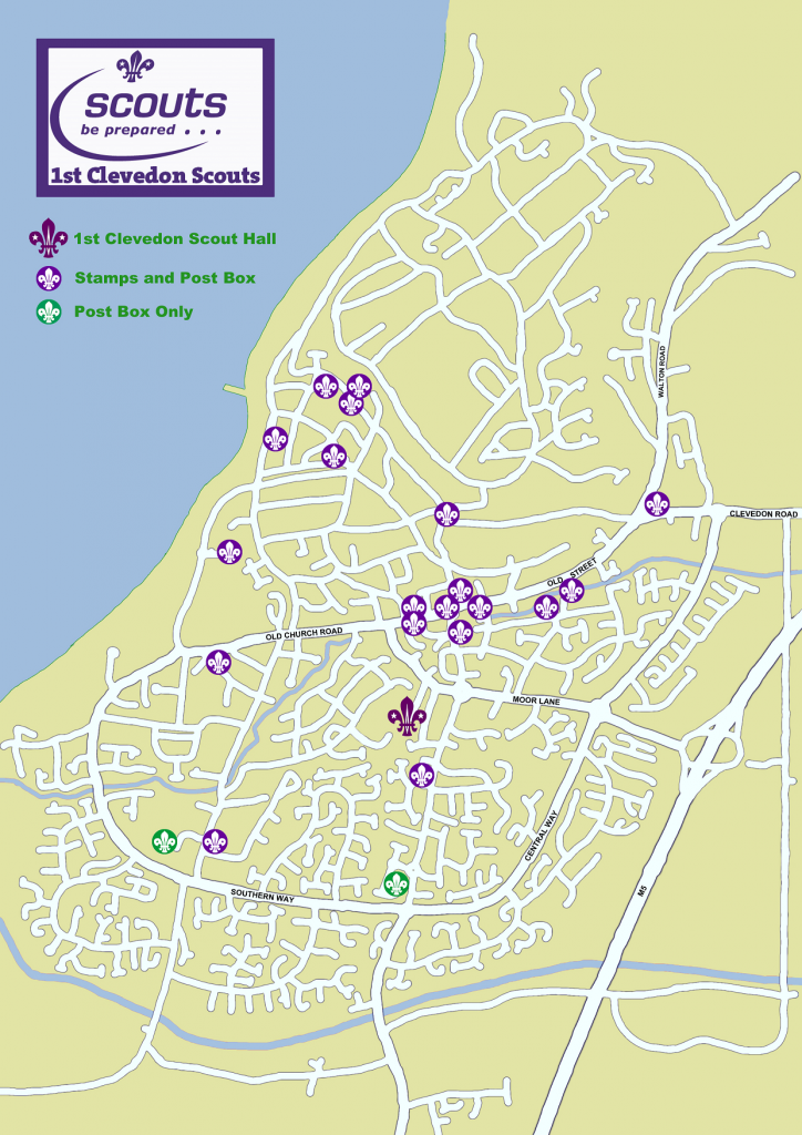 Map showing Christmas Post Box locations