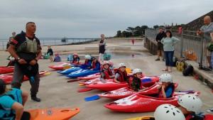 1st Clevedon Beavers Kayaking